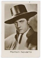 Silent Movie Star Ramon Novarro 1930s German collector's real photo tobacco card