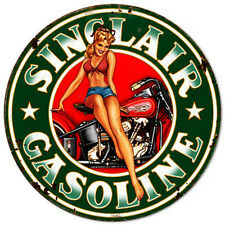Sinclair Gasoline Pin-Up Metal Sign