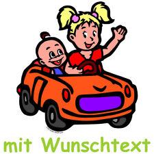 GESCHWISTERAUFKLEBER bunt Babyaufkleber Aufkleber Kinderaufkleber Auto BG1-MHJD