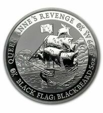 New Listing2019 Tuvalu 5 oz Silver Black Flag Queen Anne's Revenge * Only 500 Minted *