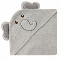 Luvable Friends Boy and Girl Animal Face Hooded Towel, Elephant