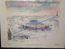 """Lithographie """" Stade De France """" numérotée et signée"""