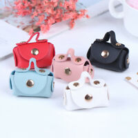 1Pc 1:6 1:12 Dollhouse Miniature Leather Fashion Bag Doll House Accessories TRFR