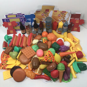 Play Pretend Food Lot Over 140 Pieces Fruits Vegetables Hot Dogs Chips And More