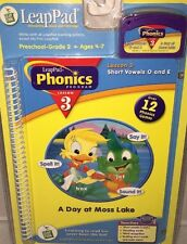 A DAY AT MOSS LAKE LeapPad Interactive Book & Cartridge, Phonics Lesson 3 New