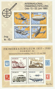 Norway Norwex '80 Souvenir Sheets Scott 753 and 765