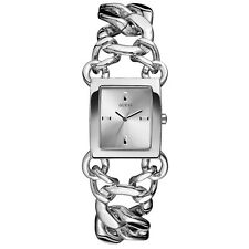 AUTHENTIC GUESS LADIES RHAPSODY SILVER TONE WATCH W0438L1 RRP:329 BRAND NEW