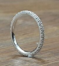 925 Sterling Silver Celebrity Inspired Straight Eternity wedding band all rings*