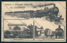Livorno Città Saluti a Grande Velocità Treno cartolina EE6889