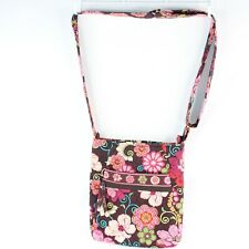 Vera Bradley Mod Floral Pink Retired Pattern Hipster Crossbody Purse Handbag