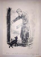 °Planche originale signée- MONTHERLANT (SALVAT): Les Célibataires, 1943