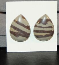 Print Stone Cabochons From Mexico 17x22mm set of 2 (7426)