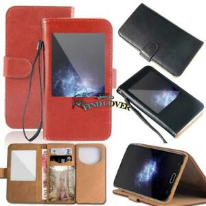 Flip View Window Cover Stand Wallet Leather Case For Various Doogee X Series
