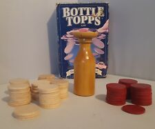 Parker Bros.  Bottle Topps Game 1993 Used Made in USA Wood Pieces 94 Chips Total