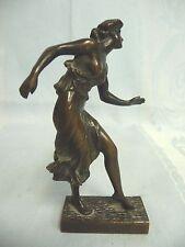 ANTIQUE BRONZE SEMI-NUDE WOMAN - WM. HOPPE S.F. 1915