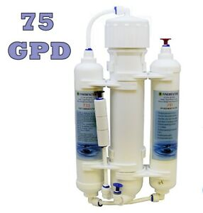 3 Stage Compact Reverse Osmosis System RO Unit 75GPD for Tropical Marine Discus