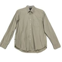 Victorinox Shirt Mens Size L Large Beige Button Front Long Sleeve