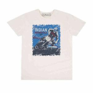 Genuine Indian Motorcycle Men's T-Shirt Flat Track Adventure White XXL 2XL