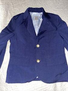 Janie & Jack Boys Size 3 Navy Blue Wool 2 Button Blazer Sport Dress Coat