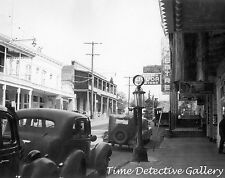 Gas Pump on Main St, Sutter Creek, Amador County, CA -1948- Historic Photo Print