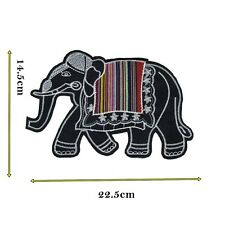 Elephant Sew On Patch Indian Thailand Style Large Size Animal Motif Applique 441