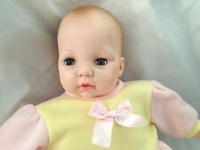 "Cloth Body Madame Alexander 18"" Blue Eyes Crying Baby Doll"