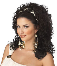 Adult Black Roman Greek Grecian Goddess Renaissance Costume Wig