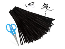 100 PCS Pipe Cleaners, Black Chenille Stems Creative