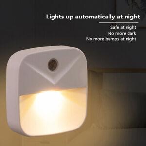 LED Night Light Intelligent Sensor Lamp Plug-in Light Control Induction Lamp_yk