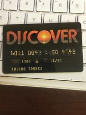 VINTAGE DISCOVER CREDT CHARGE CARD, 1991 HARD PLASTIC (a1)
