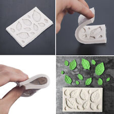 3D Rose Leaves Embellisment Silicone Fondant Mould Cake Chocolate Mold Decor