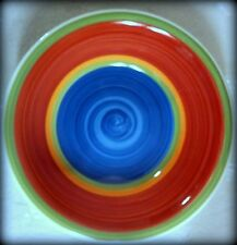 "7.25"" Royal Norfolk Mambo Cereal Bowl - Blue Bottom, Rose Sides, Holds 14 ox."