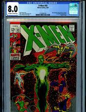 Uncanny X-Men #55 CGC 8.0 VF 1969  Marvel Comics Amricons  K13