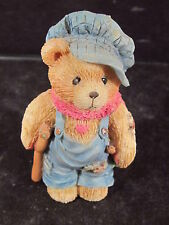 "Cherished Teddies Tiny Ted Bear 2 1/2"" Charles Dickens Bear On Crutch"
