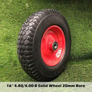 "16"" Solid Tyre Wheel Wheelbarrow 4.80/4.00-8 20mm BORE Wheels Puncture Proof"