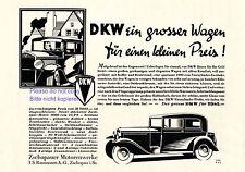 DKW Zschopau Reklame von 1931 Rasmussen Sachsen Auto Oldtimer Motorenwerke +