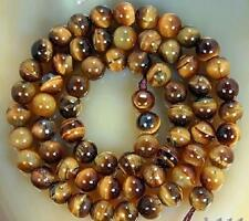 """AAA+++ 6mm Natural African Roar Tiger's Eye Round Gemstone Loose Beads 15"""""""