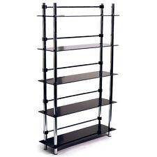 MAXWELL DVD / CD / Media Storage Shelves Black MS2408