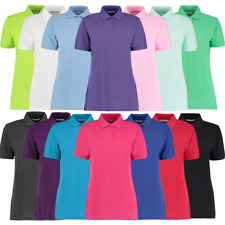 Kustom Kit LADIES POLO SHIRT CLASSIC FIT CASUAL PLAIN WORK TOP 8-22 PLUS SIZE
