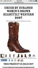 Durango Crush Brown Cowgirl Western Boots DCRD179 Heartfelt Women's 6