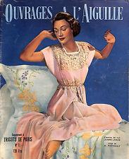 REVUE TRICOTS DE PARIS OUVRAGES A L'AIGUILLE 1949