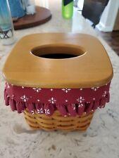longaberger tall tissue basket liner red Liner Only