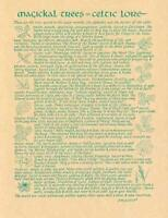 Magical Celtic Trees Parchment Page for Book of Shadows Page, Altar!