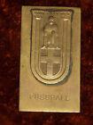 Altes Messing Abzeichen UNION-KAMPFSPIELE WIEN 1949-FUSSBALL