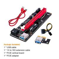 VER009S PCI-E Riser Card PCIe 1x to 16x Extender USB 3.0 Data Cable GPU mining