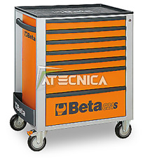Trolley chest of drawers mobile Beta C24S 7/O tool holder 7 drawers orange