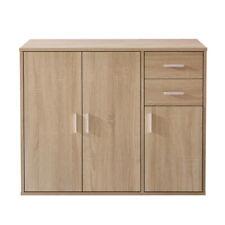 Modern Oak 2 Drawer & 3 Door Sideboard Storage Cabinet Wooden Cupboard Unit