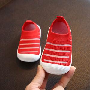 Boy Girl Child Walk Sneaker Shoe Baby Toddler Kid Removable Squeaker Walk Shoes