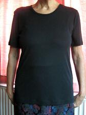 Jean Muir Essentials Top New Large - Black Short Sleeves 1990's