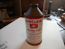 Vintage Sinclair Starting Fluid Diesel & Gasoline Engines Oil Cone Top Can 10 oz